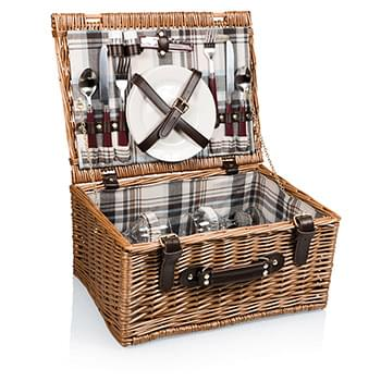 Bristol Picnic Basket w/Service for 2