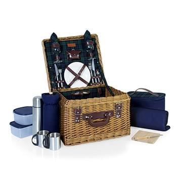 Canterbury Luxury Picnic Basket w/Deluxe Service for Two