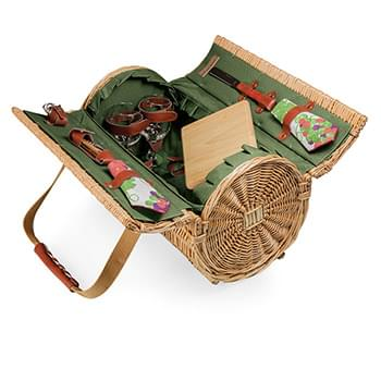 Verona Barrel Basket w/Wine & Cheese Service for 2