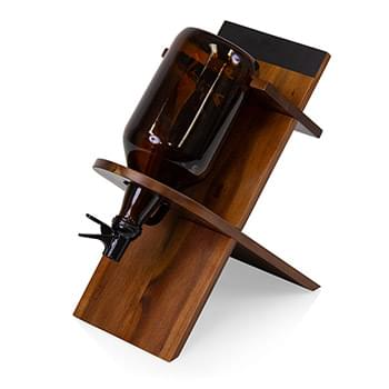Growler Stand with 64oz Glass Growler