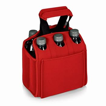 Six Pack Neoprene Insulated Beverage Tote