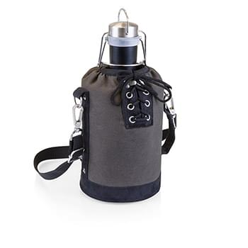Growler Tote w/64 Oz. Stainless Steel Matte Black Growler