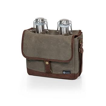 Insulated Double Growler Tote with 64 oz. Stainless Steel Growlers