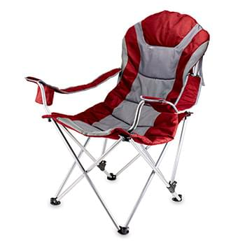 Reclining Camp Chair Folding, Portable Padded Chair